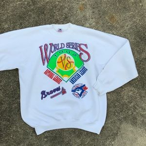 VTG 1992 World Series Sweatshirt Bluejays 1st Win